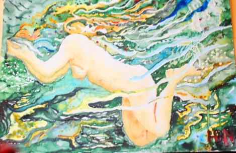Flicka under vatten